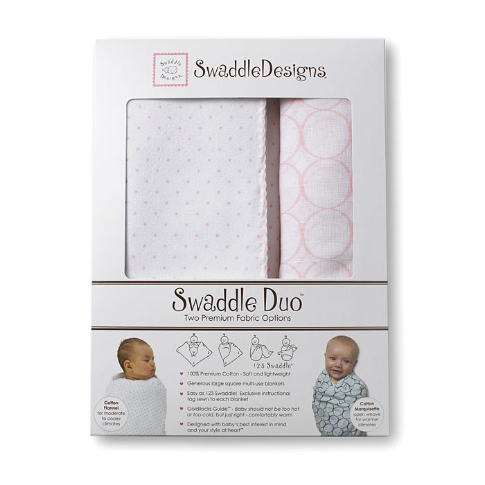 Набор пеленок SwaddleDesigns Swaddle Duo Swaddle Duo Pstl Pink Classic